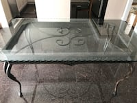 Black metal framed glass top table Toronto, M1B 5M6