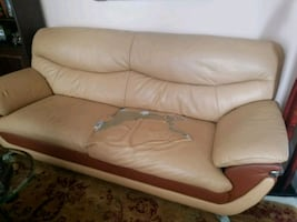 LOOK AT PIC. Free leather sofa