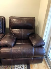 Brown leather power recliner sofa chair Braintree, 02184