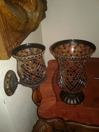 Partylite mosaic hurricane and sconce