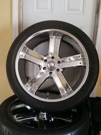 """23"""" Rims and tires for Chevy Truck"""