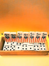 Dominos, White with Puerto Rican flag