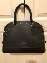 Black leather Coach 2 way bag Coquitlam