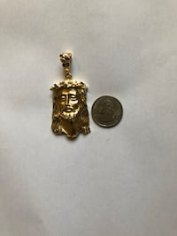 Large gold plated Jesus pendant Yorktown, 23692