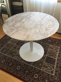 White Marble Bistro Table Vancouver, V6G 1P2