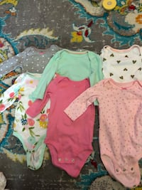 7 3-6 month long sleeve onesies  Hazelwood, 63042