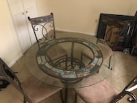 Glass dining table & four(4) chairs  Silver Spring, 20910