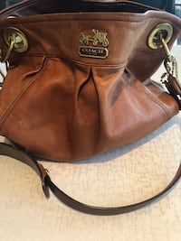 Brown michael kors leather 2-way handbag