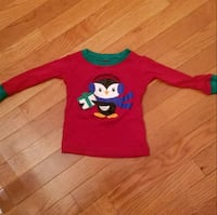 Children's Place Kid's Christmas Shirt, size 18m Sterling