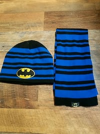 Batman hat with matching scarf. Swansea, 02777