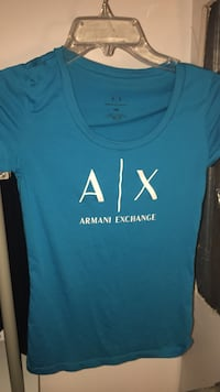 Blue armani exchange crew-neck shirt