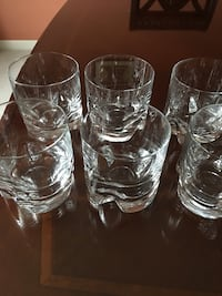seven  clear drinking glasses Gainesville, 20155