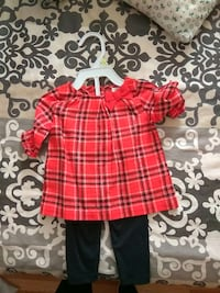 children's red blouse and black pants Quebec, H8Y 2L2
