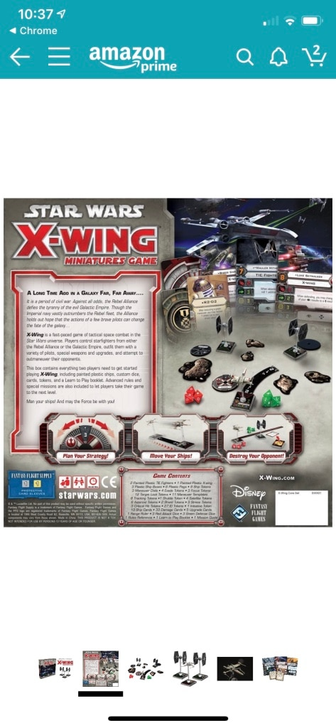 Photo Star Wars X-Wing Game