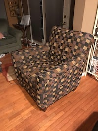 brown and black plaid sofa chair Fort Belvoir, 22309