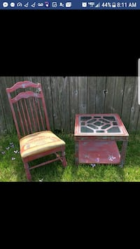 chair and marching end table