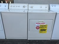 white washer and dryer set 2356 mi