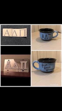 Adpi mirrored license plate, cup and 10 x 3 car decal