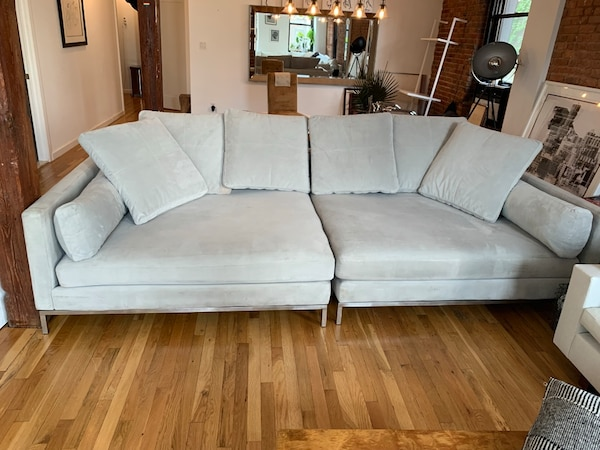 Extra Deep Gray Sofa For In