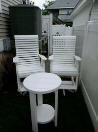 round white wooden table with two chairs Wildwood Crest, 08260