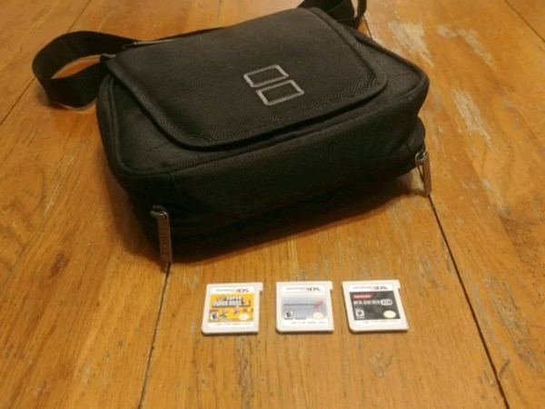 3ds carrying case and games