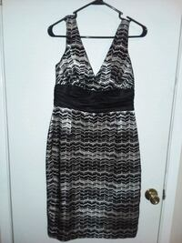 Black and white shine to this dress.  Fort Walton Beach, 32547