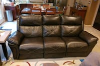 Brown leather reclining sofa and love seat Crofton, 21114