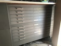 Map Desk with flat file drawers Oakland