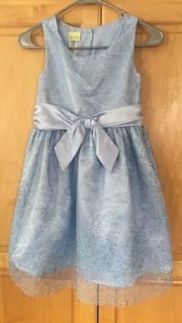 Light Blue Christmas Dress Sz 10/12 39 mi