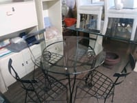 Glass table & 4.