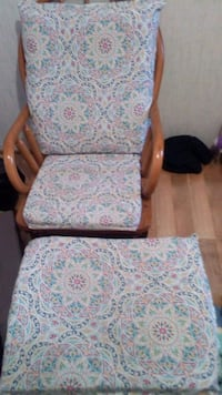 white and blue floral padded armchair South Haven, 49090