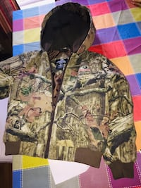 Brown and black camouflage zip-up hoodie Rincon, 31326