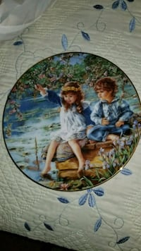 "Patience"" Decorative Collector Plate by Sandra Kuc 255 mi"