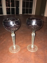 Pair of Red/Clear Goblets Baltimore, 21212