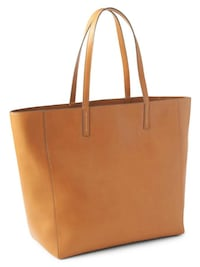 Brand new faux leather gap large tote tan cognac brown Vancouver