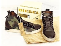 Diesel Hightop Leather Sneakers  Burnaby, V5C