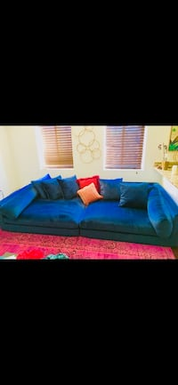 Blue and black sectional couch Silver Spring, 20910