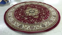 Round brown and red floral area rug 2078 mi