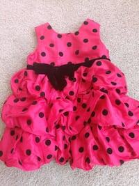pink and black polka dot sleeveless dress Fairfax, 22030