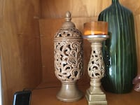 brown ceramic candle holders Fairview Heights, 62208