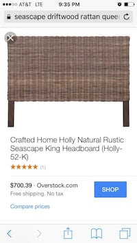 Beautiful new crafted home holly natural rustic seascape queen headboard only 300$!!! San Leandro