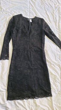 HM sz6 lace long sleeve dress black Fairfax