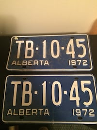 Plates From 1972 Calgary, T2G 0N4