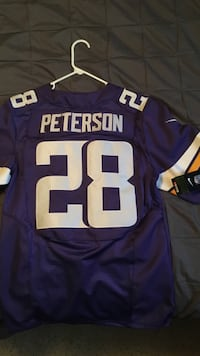 Purple and white peterson #28 jersey Johnstown, 80534