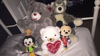 assorted animal plush toys lot