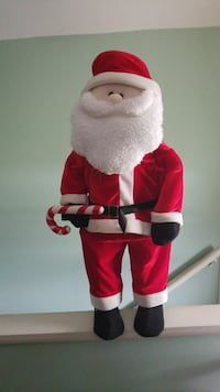 Santa Claus holding candy cane plush toy Franklin, 16323