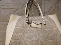 Gray monogrammed coach leather tote bag Saskatoon, S7L 3W8