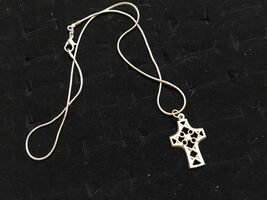 925 cut out cross necklace