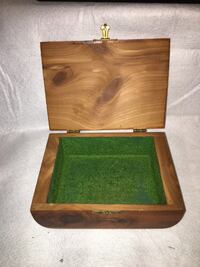 Vintage Brown Wooden Box Frederick