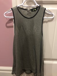 dark green long tank top